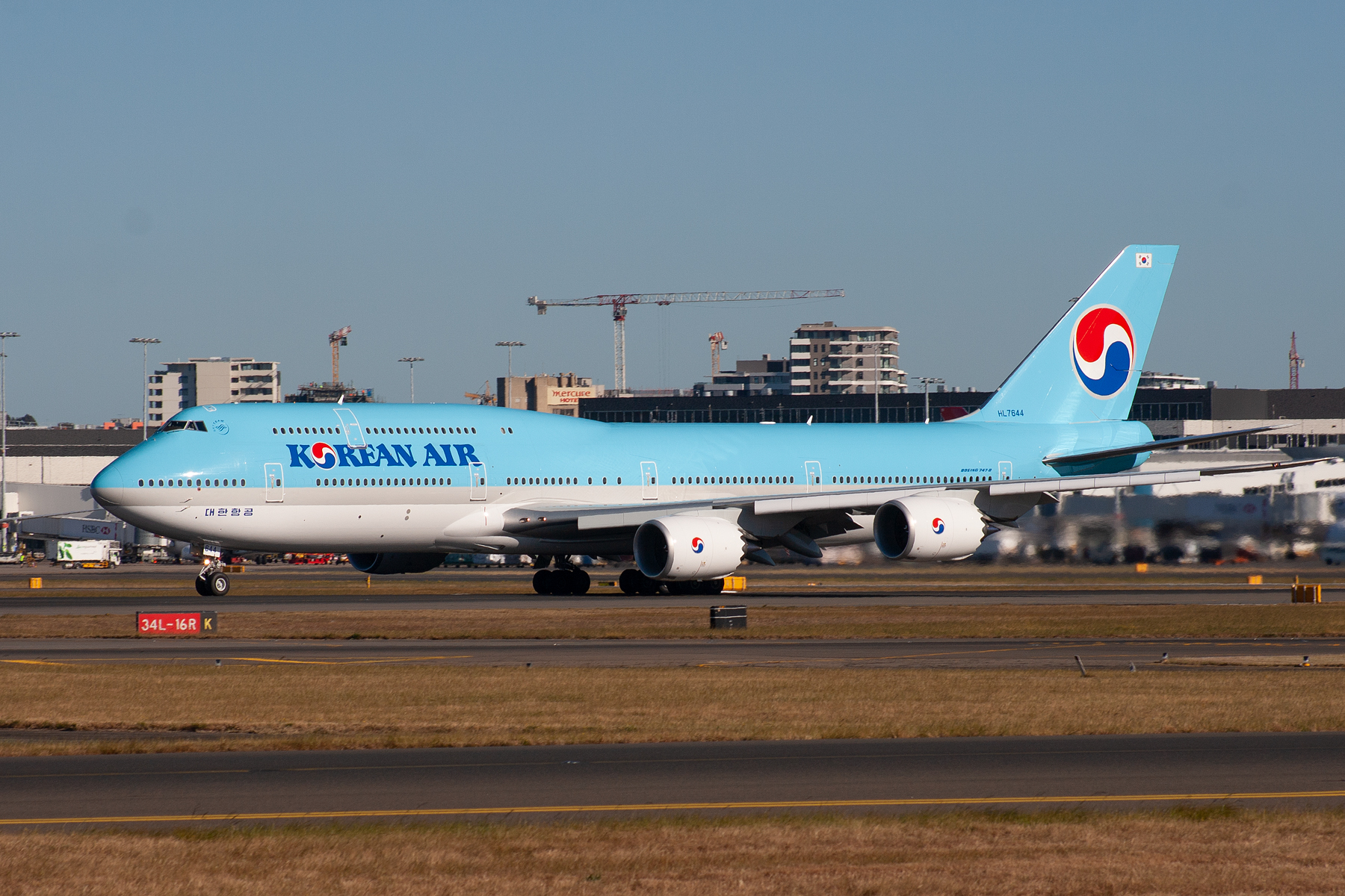 Korean Air Boeing 747-800 HL7644 at Kingsford Smith