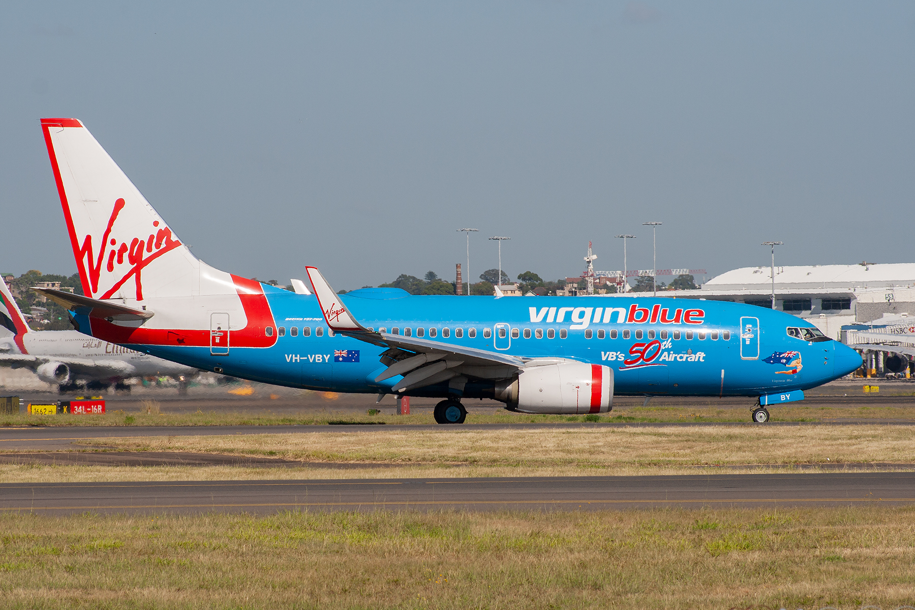 Virgin Blue Airlines Boeing 737-700 VH-VBY at Kingsford Smith
