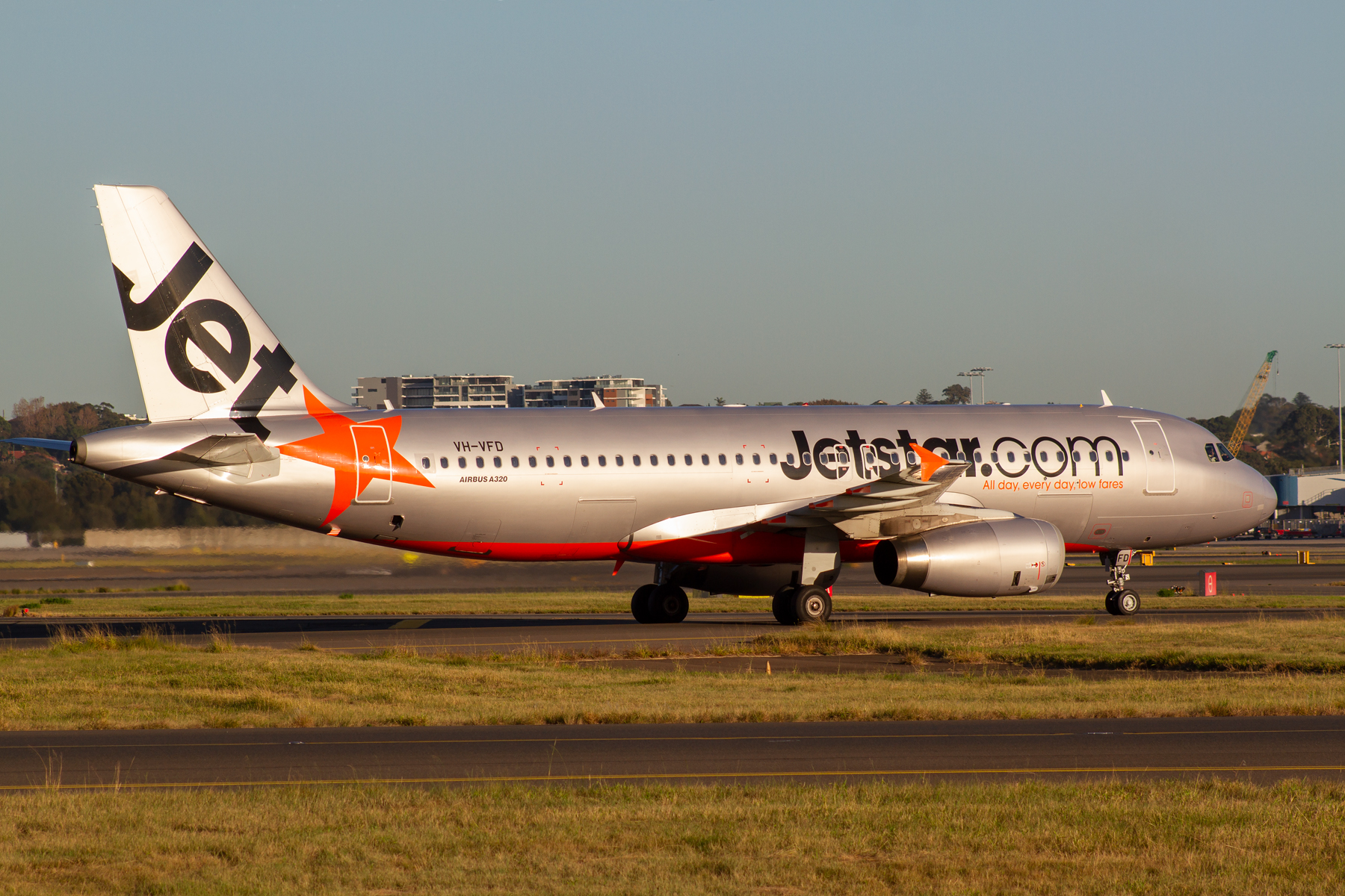 Jetstar Airways Airbus A320-200 VH-VFD at Kingsford Smith