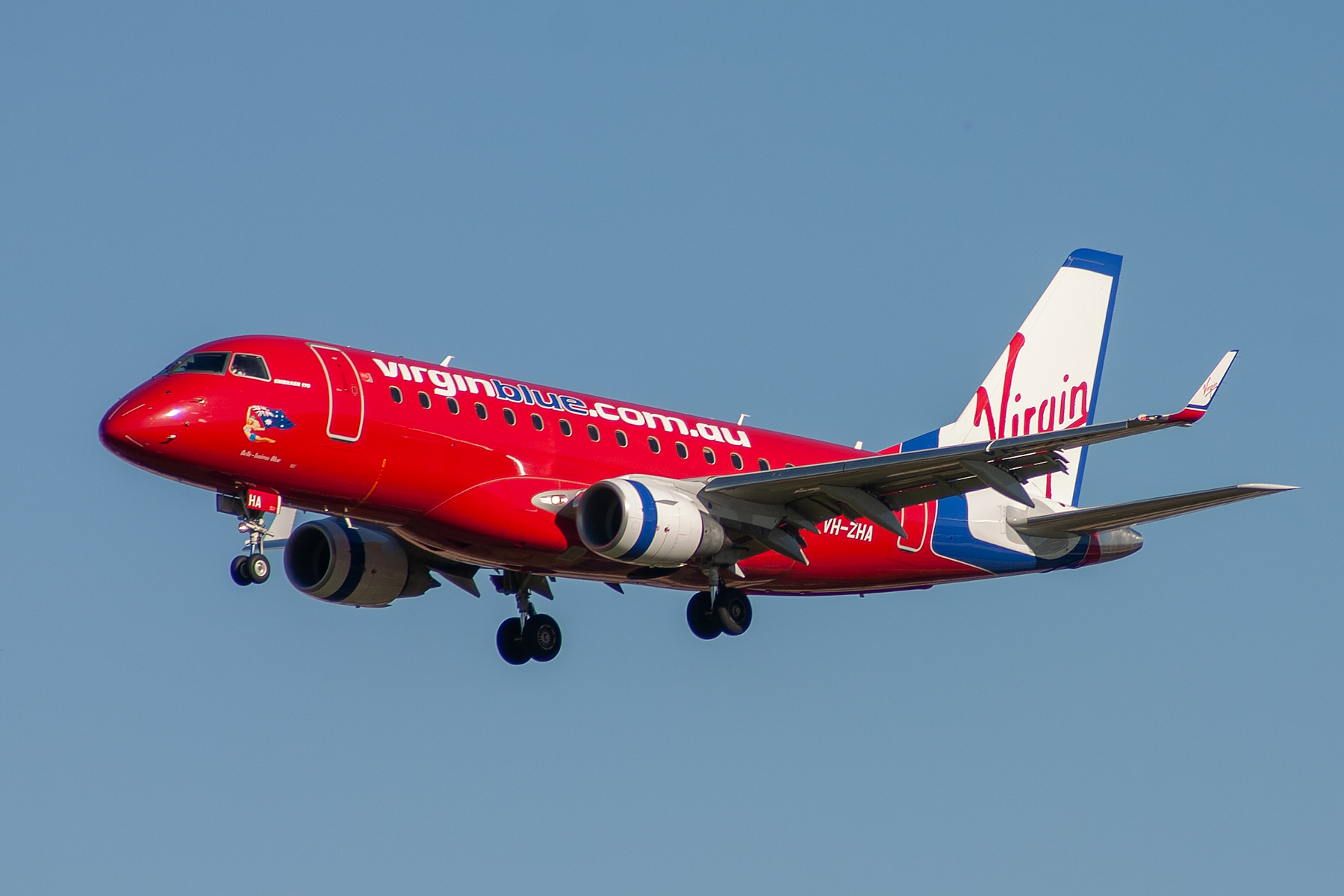 Virgin Blue Airlines Embraer E170LR VH-ZHA at Kingsford Smith