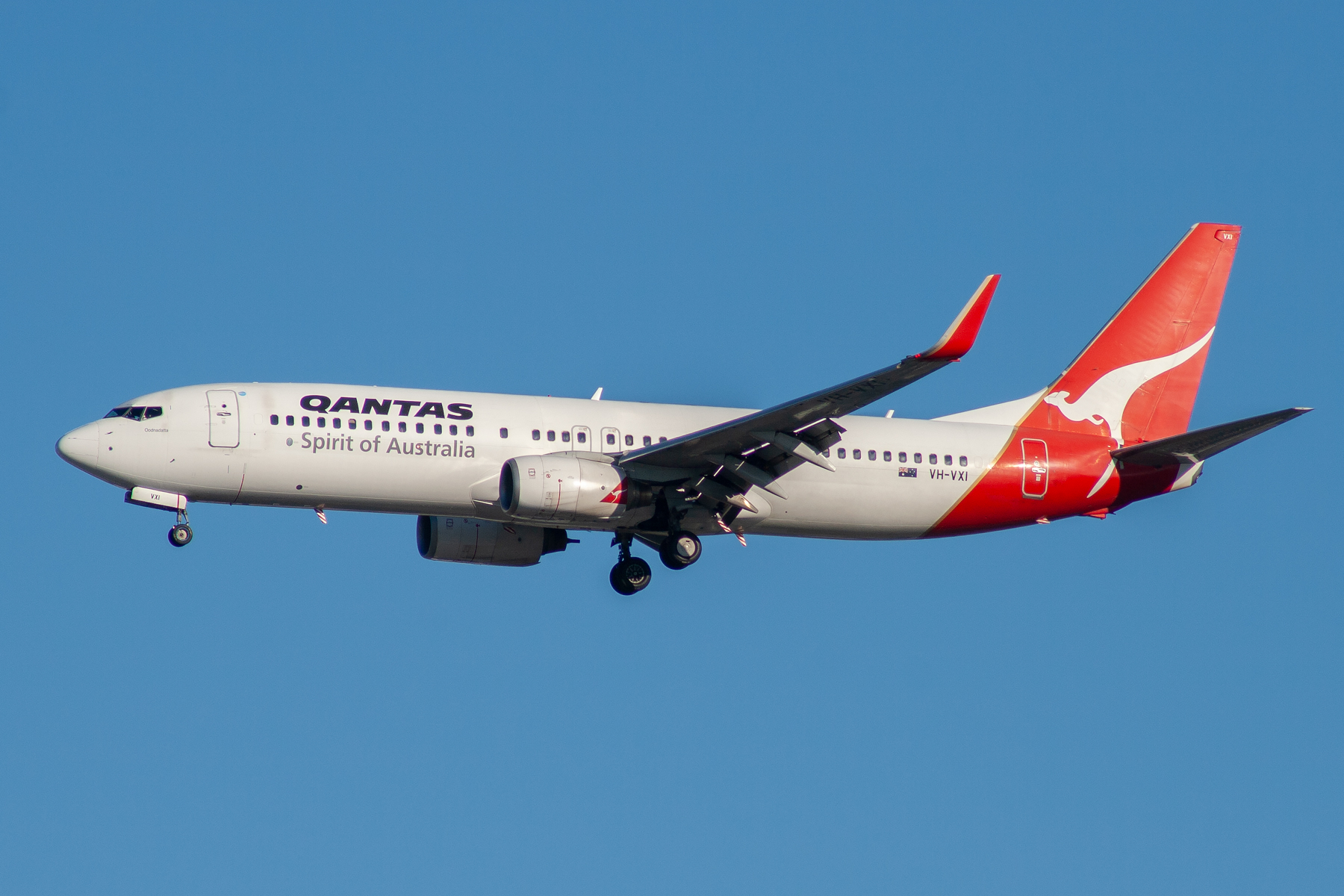 Qantas Boeing 737-800 VH-VXI at Kingsford Smith