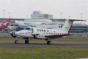 RFDS - Royal Flying Doctor Service Beech King Air 200C VH-BQR at Kingsford Smith