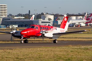RFDS - Royal Flying Doctor Service (South Eastern Section) Beech King Air 200C VH-AMR at Kingsford Smith