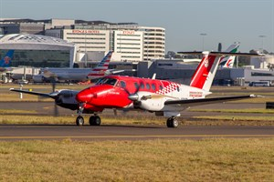 RFDS - Royal Flying Doctor Service (South Eastern Section) Beech King Air 200C VH-AMS at Kingsford Smith