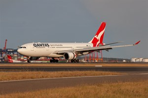 Qantas Airbus A330-200 VH-EBS at Kingsford Smith