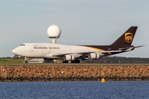 UPS Boeing 747-400 N579UP at Kingsford Smith