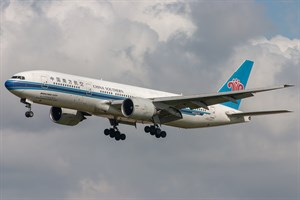 China Southern Airlines Boeing 777-200ER B-2062 at Kingsford Smith