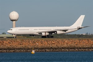 Hi Fly Airbus A340-300 9H-FOX at Kingsford Smith