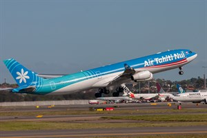 Air Tahiti Nui Airbus A340-300E F-OLOV at Kingsford Smith
