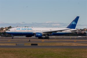 Air Austral Boeing 777-200ER F-OPAR at Kingsford Smith