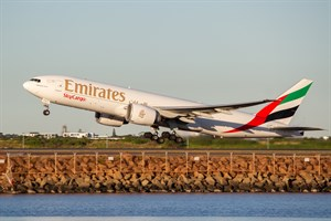 Emirates Airlines Boeing 777-200F A6-EFO at Kingsford Smith