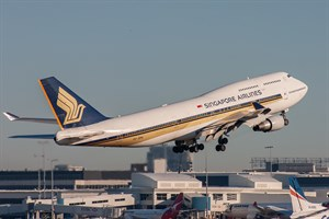 Singapore Airlines Boeing 747-400 9V-SPA at Kingsford Smith
