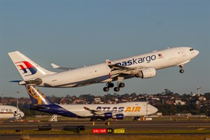 Malaysian AS Cargo Airbus A330-200F 9M-MUA at Kingsford Smith