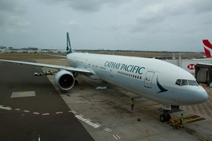 Cathay Pacific Airways Boeing 777-300ER B-KQC at Kingsford Smith