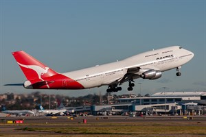 Qantas Boeing 747-300 VH-EBY at Kingsford Smith