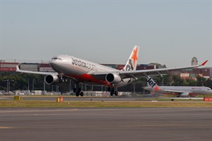 Jetstar Airways Airbus A330-200 VH-EBS at Kingsford Smith