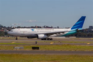 Garuda Indonesia Airbus A330-200 PK-GPM at Kingsford Smith