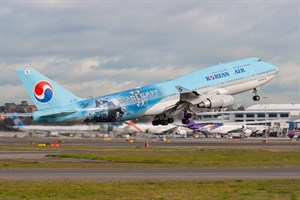Korean Air Boeing 747-400 HL7491 at Kingsford Smith