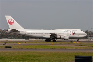 Japan Airlines Boeing 747-300 JA8179 at Kingsford Smith