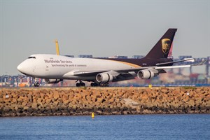 UPS Boeing 747-400F N577UP at Kingsford Smith