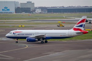 British Airways Airbus A320-200 G-EUUZ at Schiphol