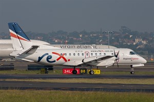 Rex Airlines Saab 340B VH-ZLX at Kingsford Smith