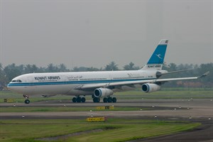 Kuwait Airways Airbus A340-300 9K-AND at Soekarno-Hatta