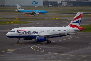 British Airways Airbus A319-100 G-DBCD at Schiphol