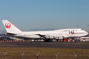 Japan Airlines Boeing 747-300 JA813J at Kingsford Smith