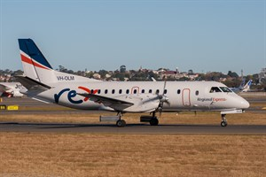 Rex Airlines Saab 340B VH-OLM at Kingsford Smith