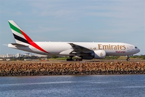 Emirates Airlines Boeing 777-200F A6-EFN at Kingsford Smith