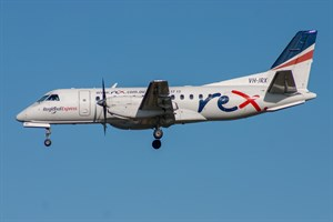 Rex Airlines Saab 340B VH-JRX at Kingsford Smith