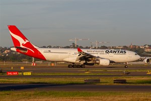 Qantas Airbus A330-200 VH-EBQ at Kingsford Smith