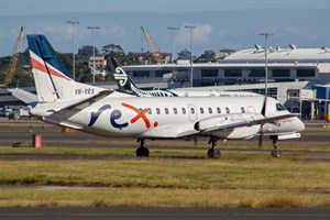 Rex Airlines Saab 340B VH-YRX at Kingsford Smith