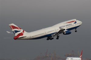 British Airways Boeing 747-400 G-CIVB at Kingsford Smith