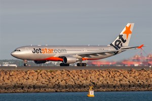 Jetstar Airways Airbus A330-200 VH-EBQ at Kingsford Smith