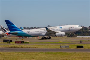 Garuda Indonesia Airbus A330-200 PK-GPL at Kingsford Smith